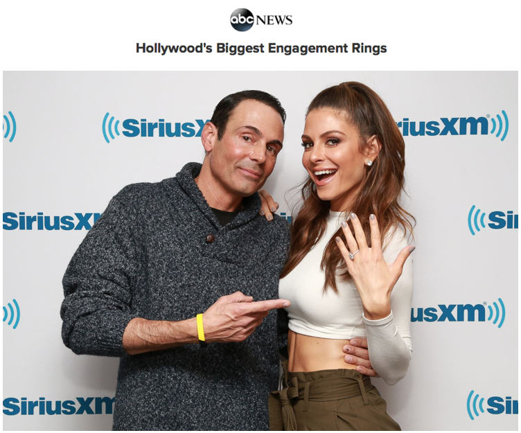 """Maria Menounos ring featured in """"Hollywood's biggest engagement rings"""", ABC News"""