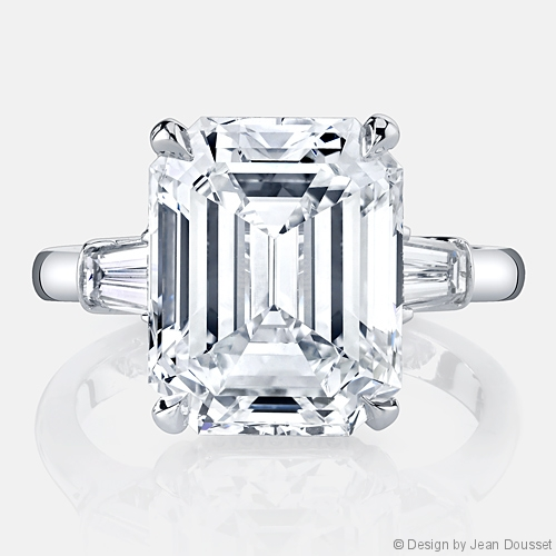 Halle Three Stone Engagement Ring by Jean Dousset