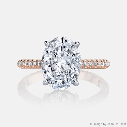 Luna Solitaire Engagement Ring in 18k Rose Gold by Jean Dousset