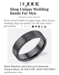 """Shop Unique Wedding Bands For Men"", DuJour"